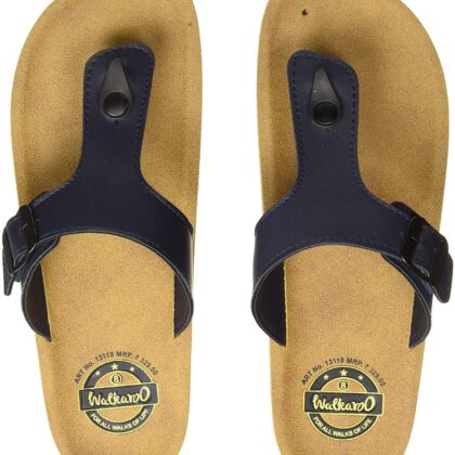 Walkaroo Men's Synthetic Leather Beige Flip-Flops (13119)