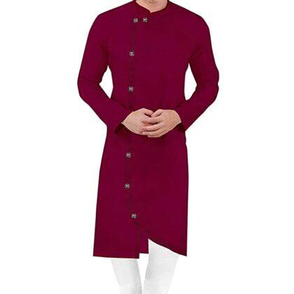 Cross Kurta Pyjama Combo Set for Men's